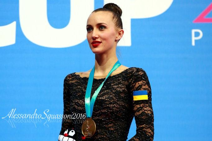 Anna Rizatdinova sul podio